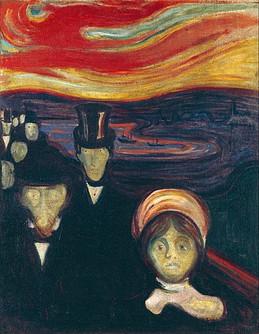 Malerei »Angst« von E. Munch, die Ursachen von Panikattacken