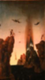 Malerei über die Hölle von D. Bouts, Angst vor dem Tod überwinden und verwandeln.