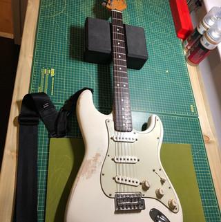 Fender Stratocaster Olympic White before repaint