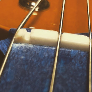 Squire Telecaster Deluxe nut slot after rebuild