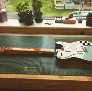 Squire Telecaster Deluxe Guitar Setup and Fret level