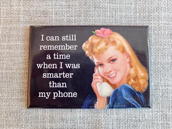 Smarter Than Phone Magnet