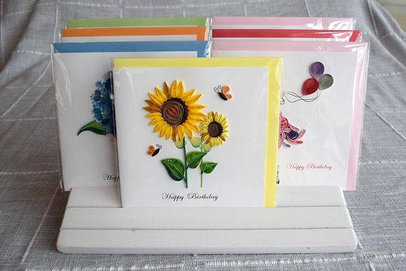 Birthday Sunflowers Greeting Card