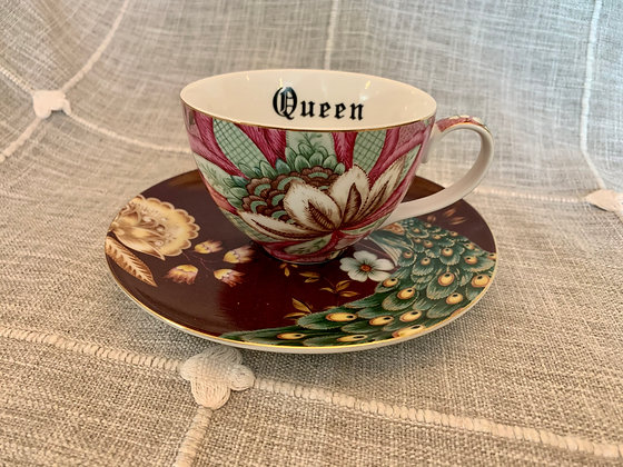 Queen Bitch Teacup & Saucer