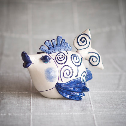 Blue Ocean Fish Teapot