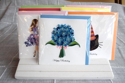 Birthday Hydrangeas Greeting Card
