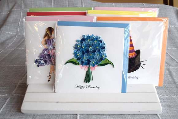 Birthday Hydrangeas Greeting Card