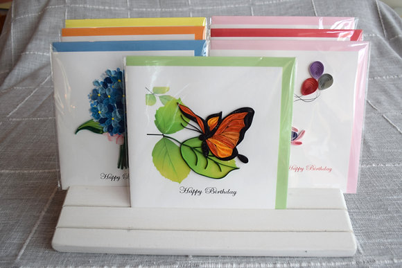 Birthday Butterfly Greeting Card