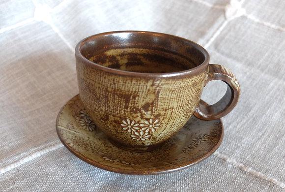 Ceramic Teacup & Saucer