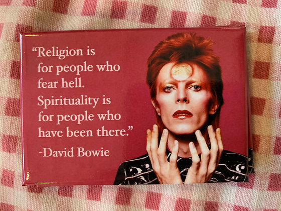 Bowie Religion Magnet