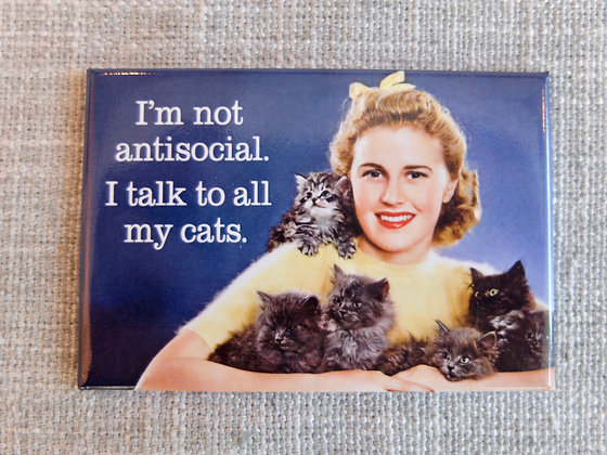 Not Antisocial Cats Magnet