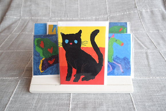 Black Cat in the Sunset Greeting Card