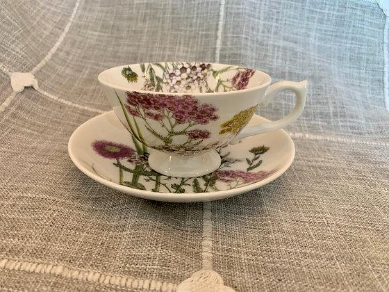 Stoner Floral Teacup & Saucer