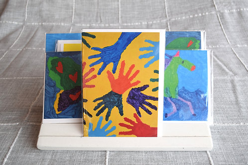 Sunny Colorful Hands Greeting Card