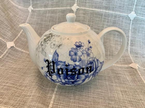 'Poison' Blue Floral Teapot
