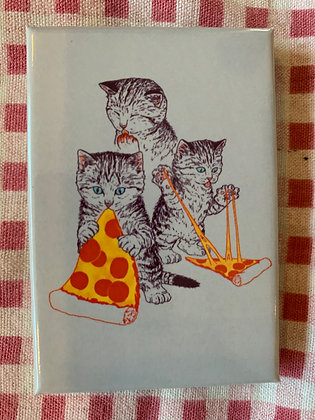 Cat Pizza Party Magnet