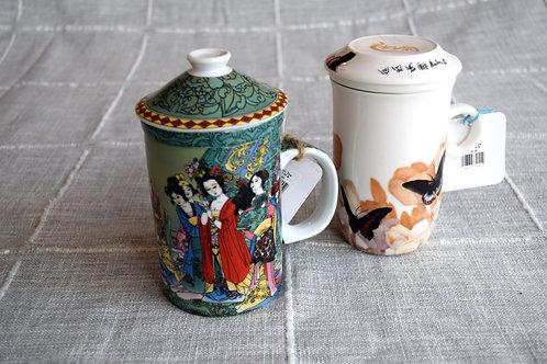 Ceramic Mug w/ Strainer