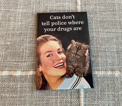 Cats Don't Tell Magnet