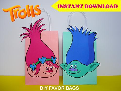 Trolls Favor Bags
