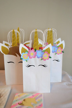 Unicorn bags.