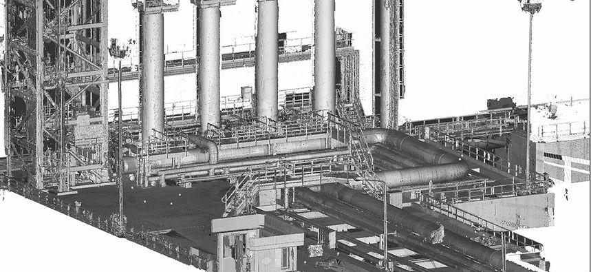 LNG LOADING TERMINAL PORT 3D LASER SCAN