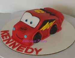 3D McQueen car cake