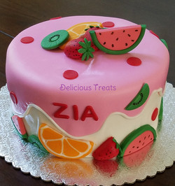 Fruit theme cake