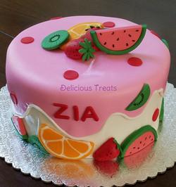 Fruit theme cake