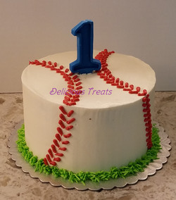 Baseball theme smash cake