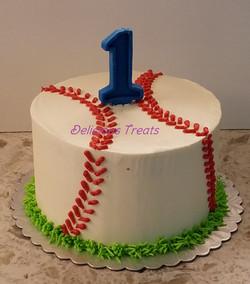 Baseball theme smash cake