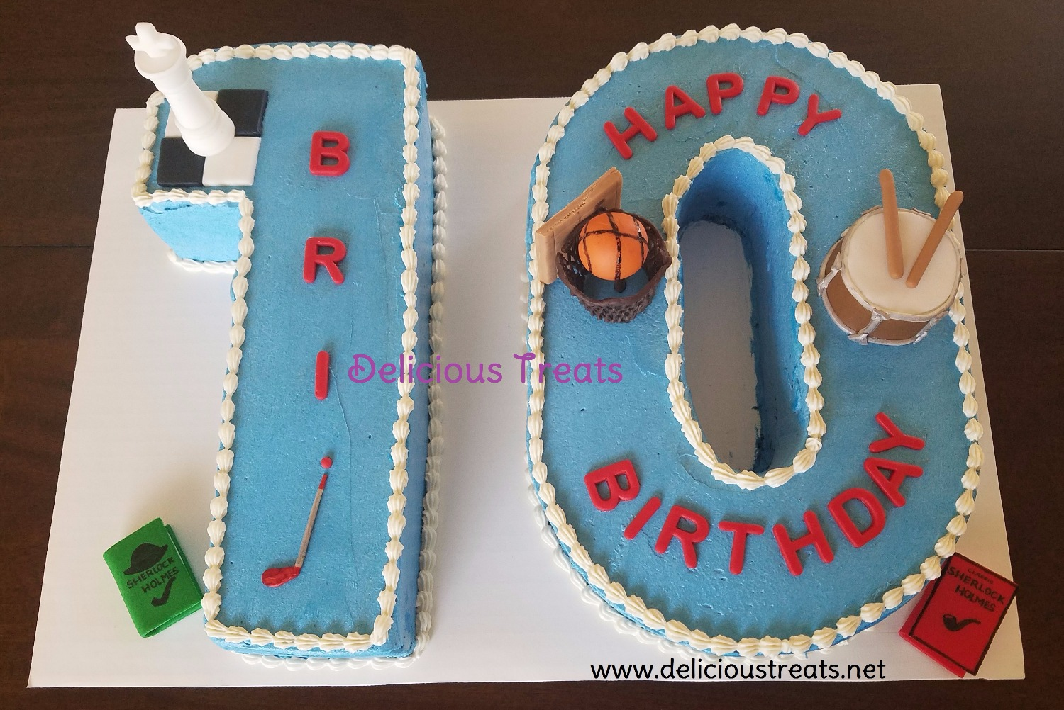 number 10 cake for boy