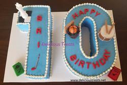 number 10 cake for boy