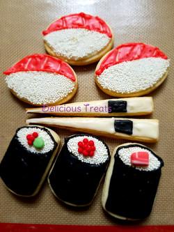 Sushi theme cookies