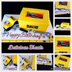 Dewalt tool box cake