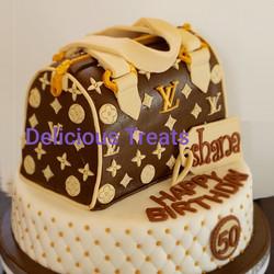 Louise Vuitton Bag cake