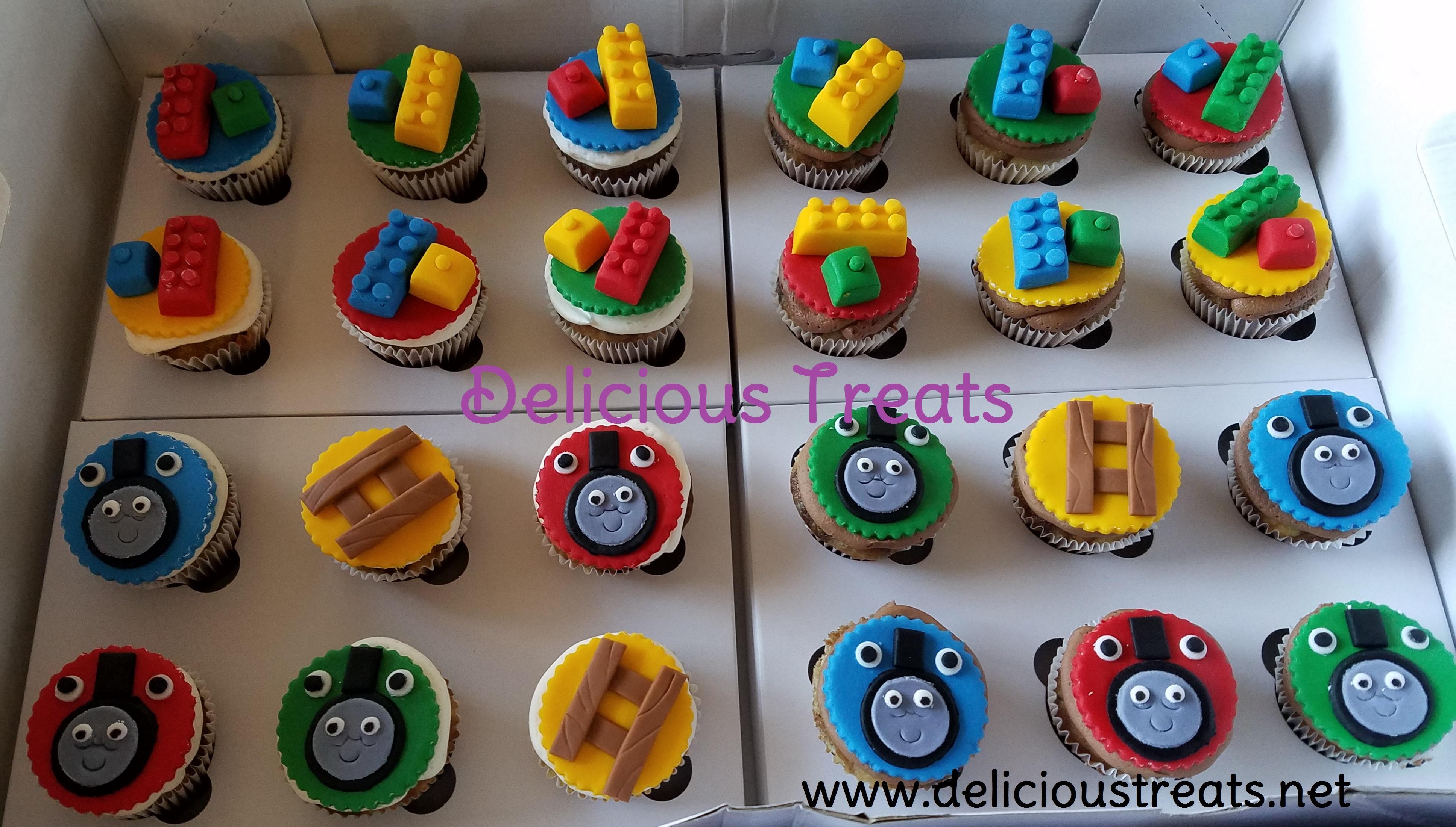 Lego & Thomas Cupcakes