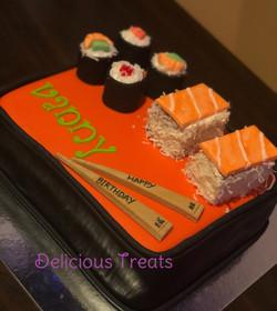 sushi theme cake