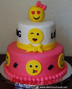 Emoji theme cake