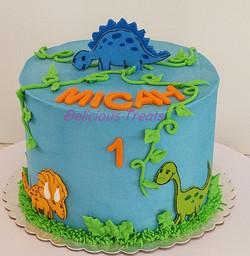 Dinosaur theme smash cake