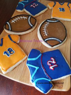 Football theme cookie