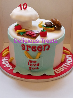 Cooking theme cake
