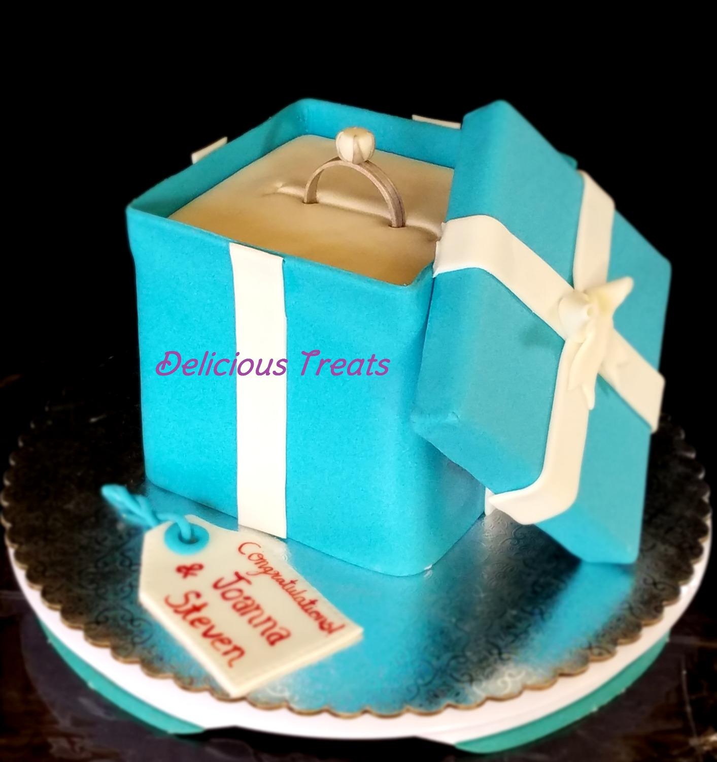 Tiffany_Ring box cake