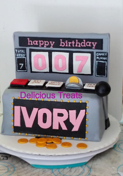Slot Machine Theme Cake