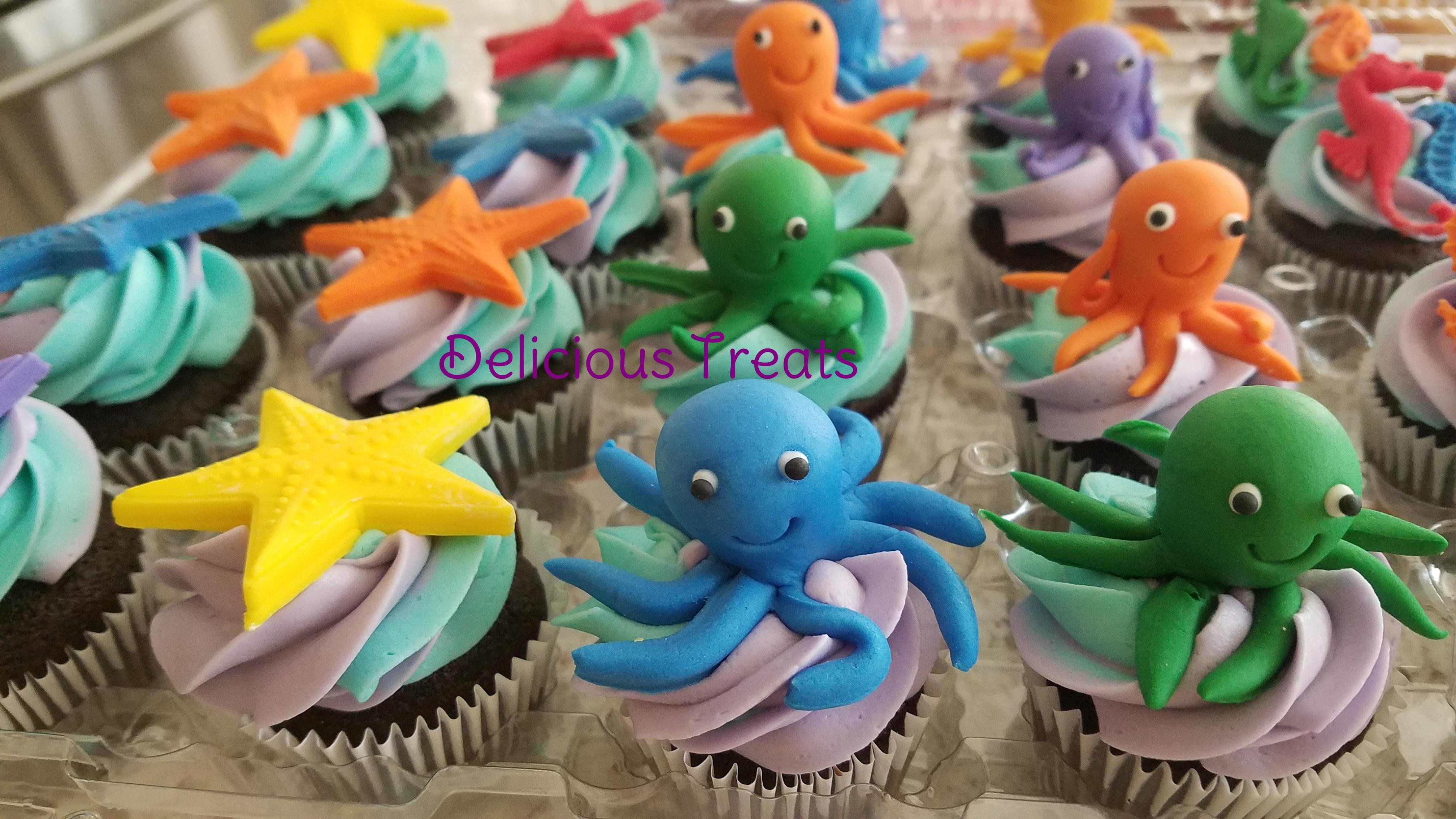 sea theme_octopus, starfish