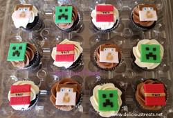 #Minecraft theme cupcakes