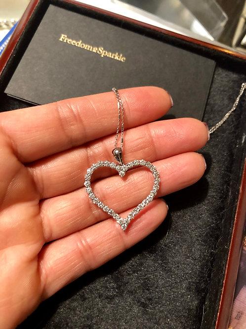 Big Heart Diamond Necklace