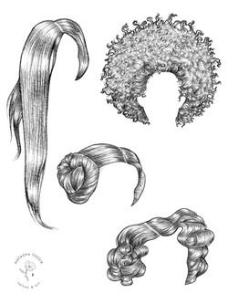 Hair styles by Natasha Tsozik