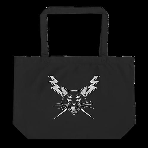 Cat Large organic tote bag