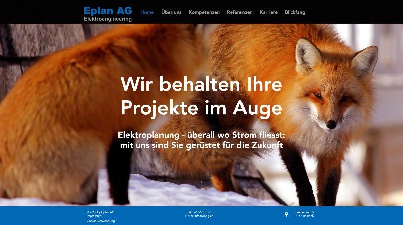 Homebereich epag.ch