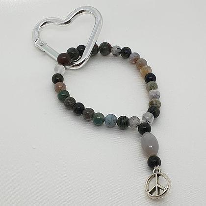 Lifestyle Mala * Key Ring * Peace
